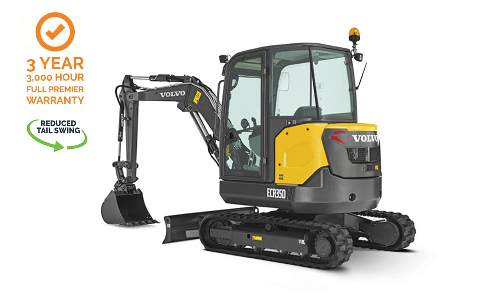 Volvo-ECR35D-Compact-Mini-Excavator-CJD-Reduced-Swing