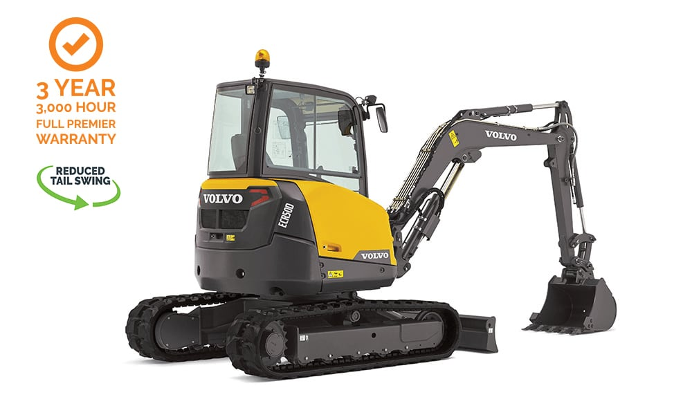 Volvo-ECR50D-Compact-Mini-Excavator-CJD-Reduced-Swing