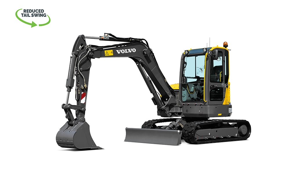 Volvo-ECR58D-Compact-Mini-Excavator-CJD-Reduced-Swing