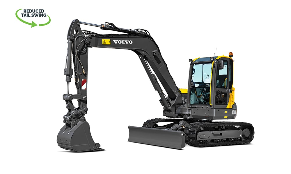 Volvo-ECR88-PLUS-Compact-Mini-Excavator-CJD-Reduced-Swing