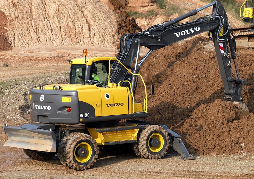 Volvo EW160 Wheeled Excavator