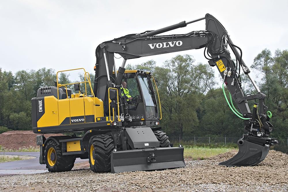 Volvo EW160 Wheeled Excavator - boom arm