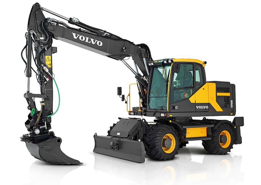 Volvo EW160 Wheeled Excavator - left front view