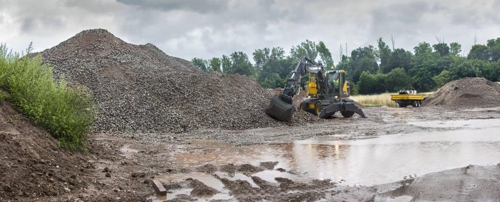 Volvo EW180E wheeled excavator hero image