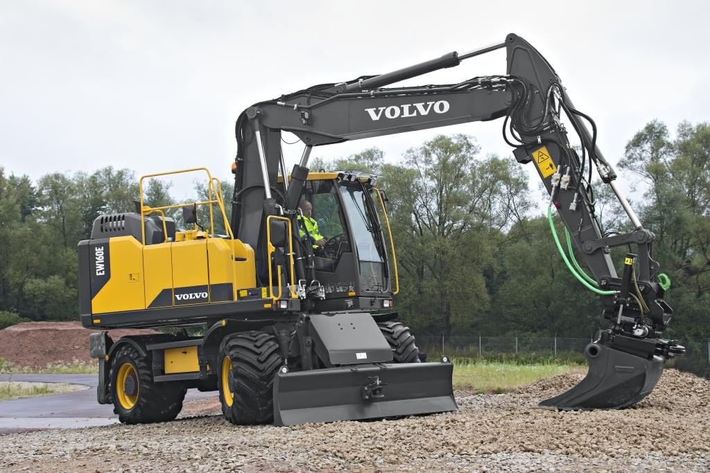 Volvo EW180E wheeled excavator hero 2