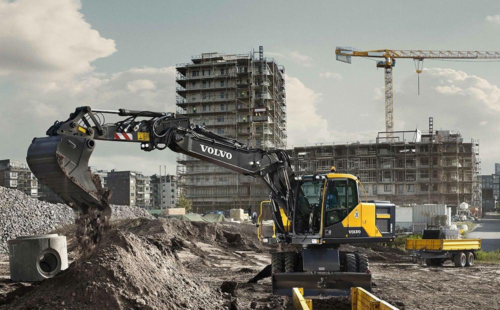 Volvo EW180E wheeled excavator