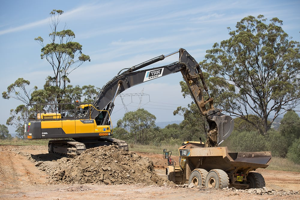 Volvo Excavators at work for TRN Civil Construction