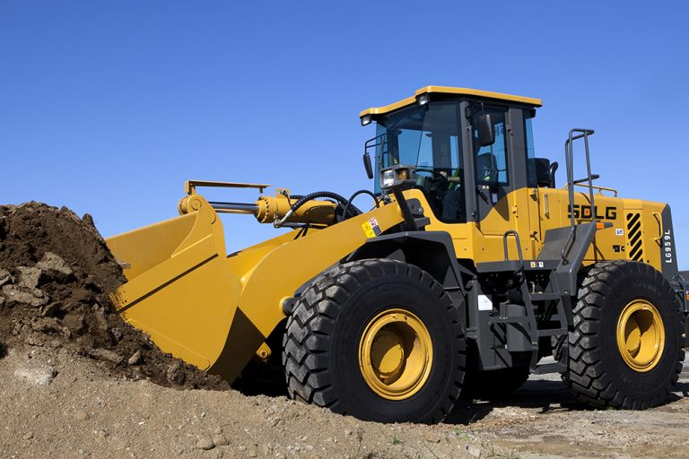 "SDLG wheel loader proves it's not ""all hat and no cattle"" 72"