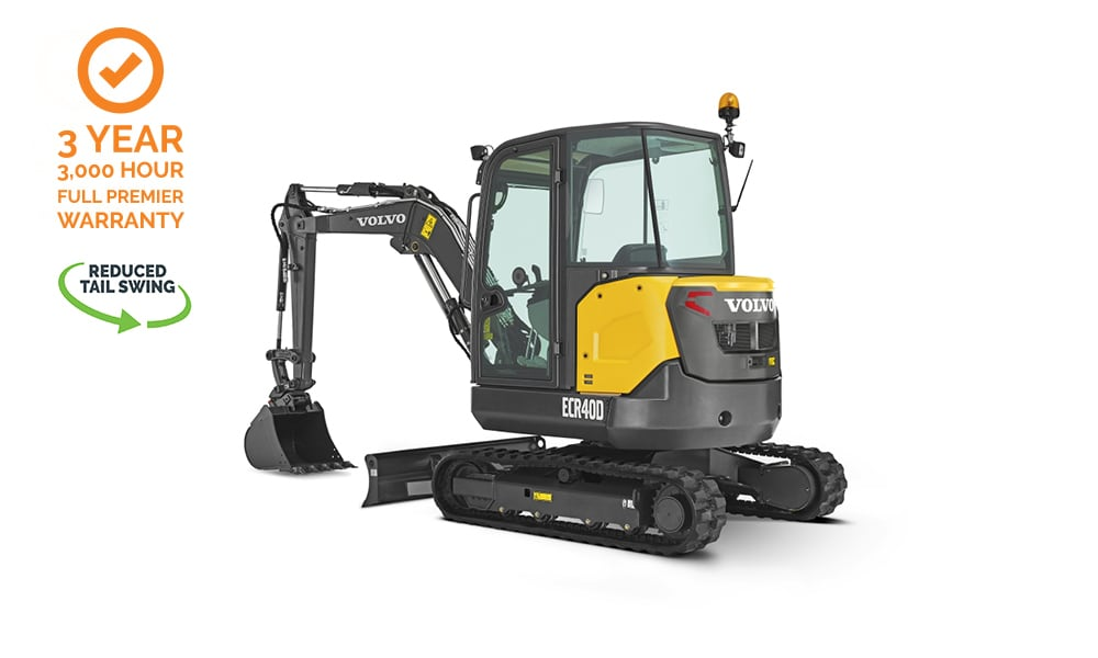 Volvo-ECR40D-Compact-Mini-Excavator-CJD-Reduced-Swing