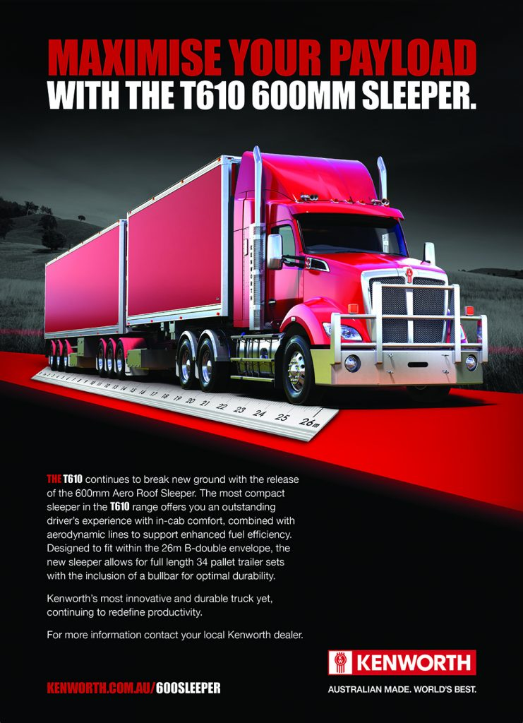 Kenworth adds more flexibility to its range with the release of a new T610 aero roof sleeper cab 4