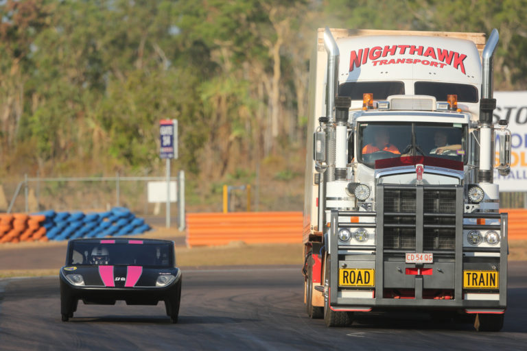 Much Loved Kenworth C509 Takes to the Track with Solar Cars 1
