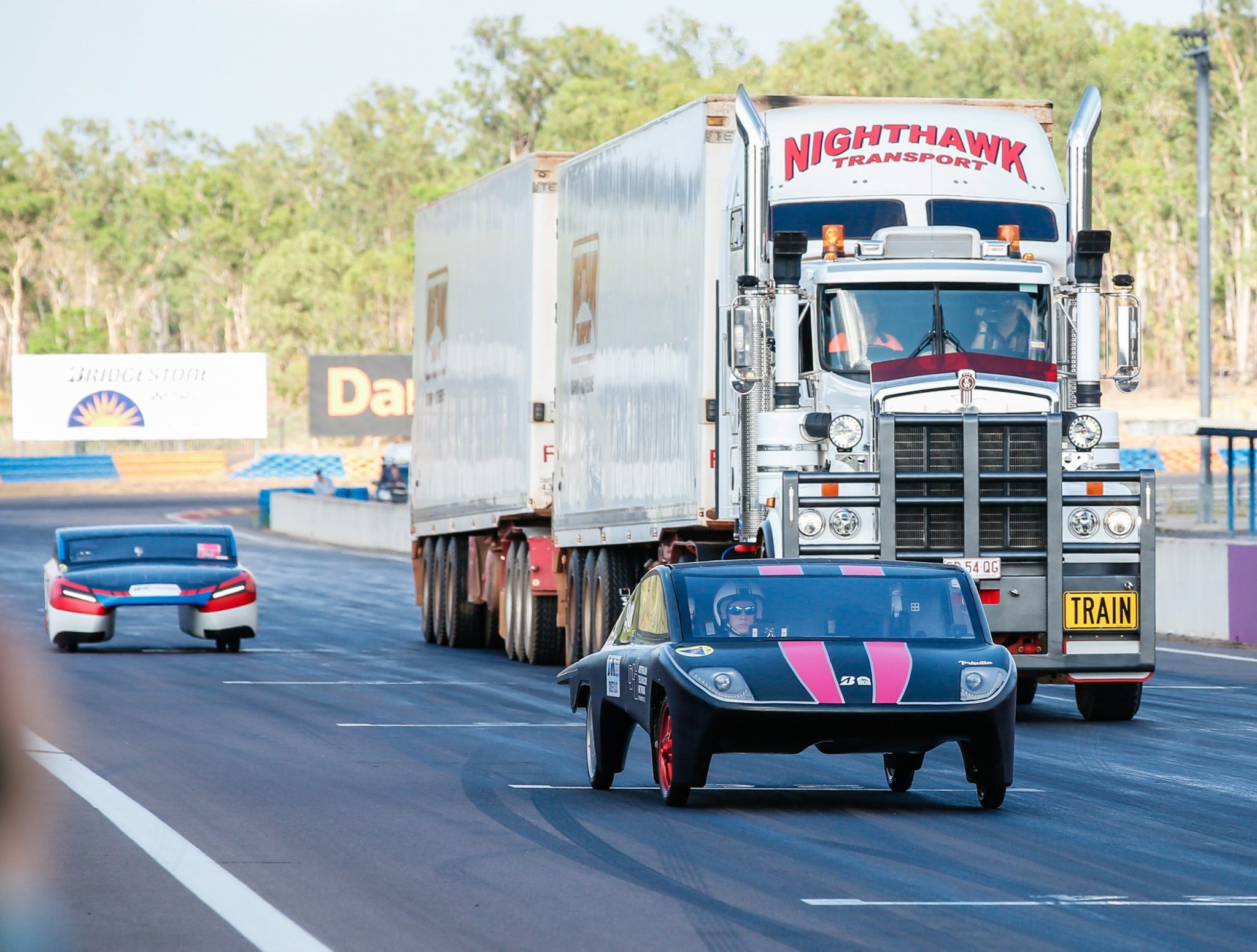 Much Loved Kenworth C509 Takes to the Track with Solar Cars 2