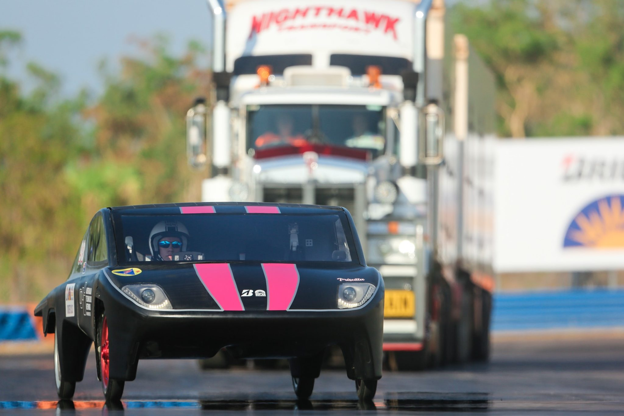 Much Loved Kenworth C509 Takes to the Track with Solar Cars 3
