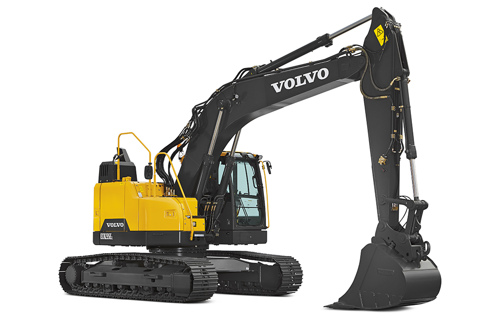Volvo Excavator ECR235E Reduced Swing