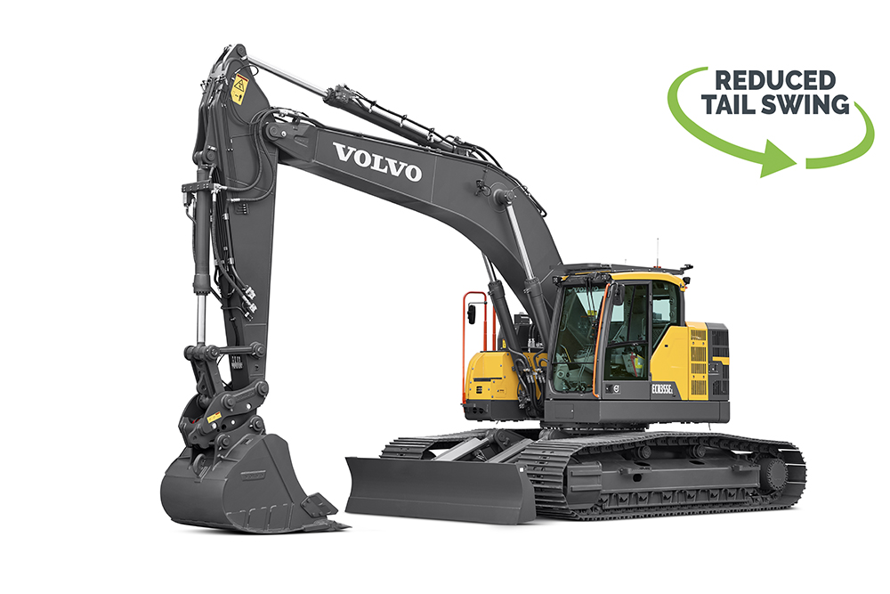 Volvo Excavator ECR355E Reduced Swing