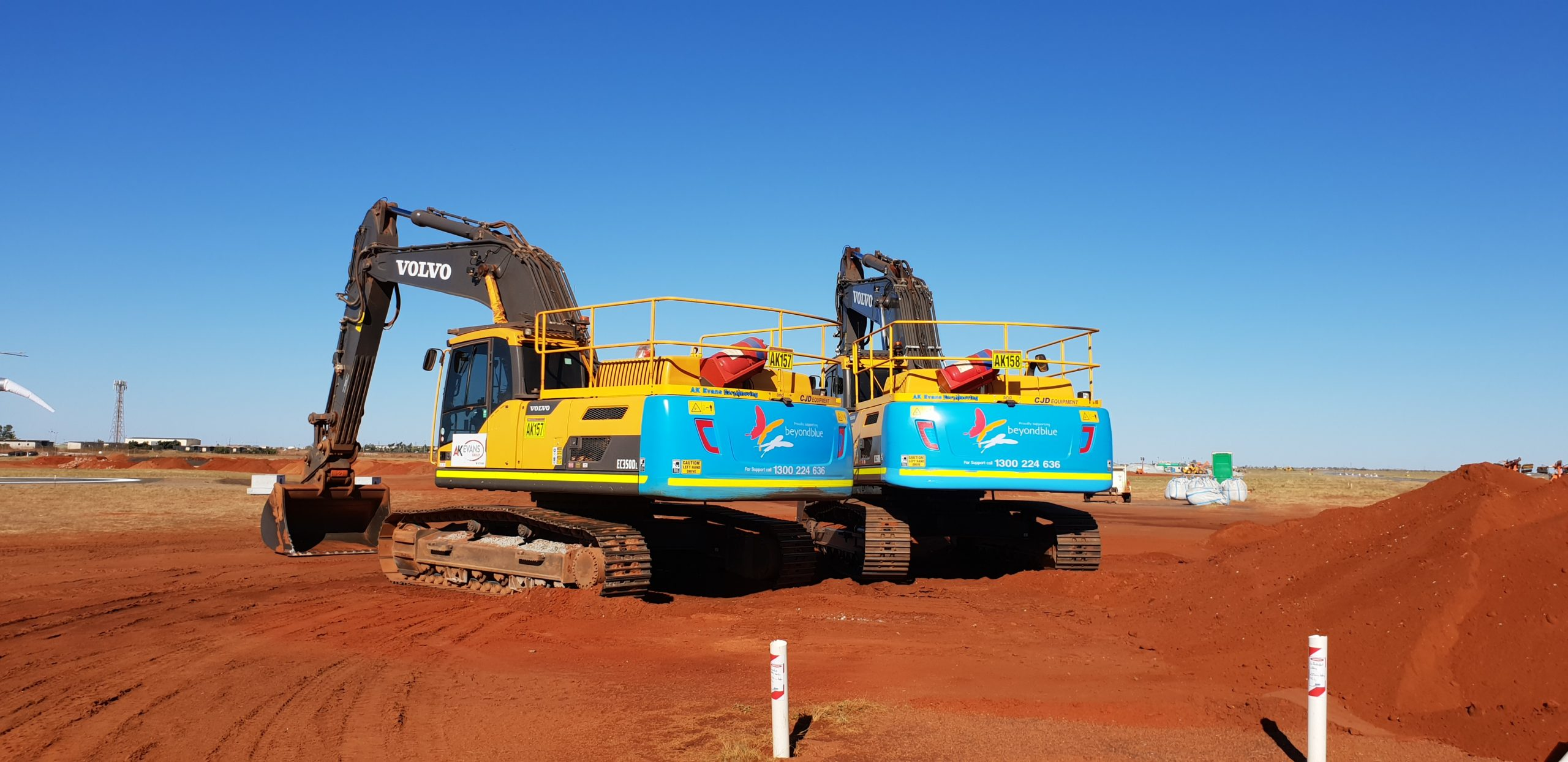 AK Evans Earthmoving and CJD Equipment Supporting Beyond Blue 3