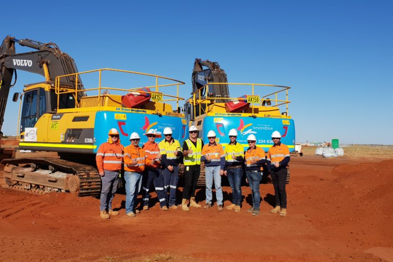 AK Evans Earthmoving and CJD Equipment Supporting Beyond Blue