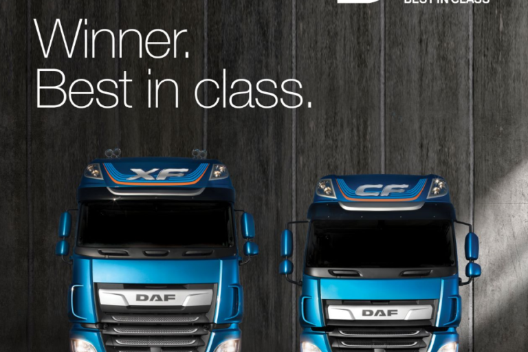 DAF XF and CF Wins Best in Class Accolade