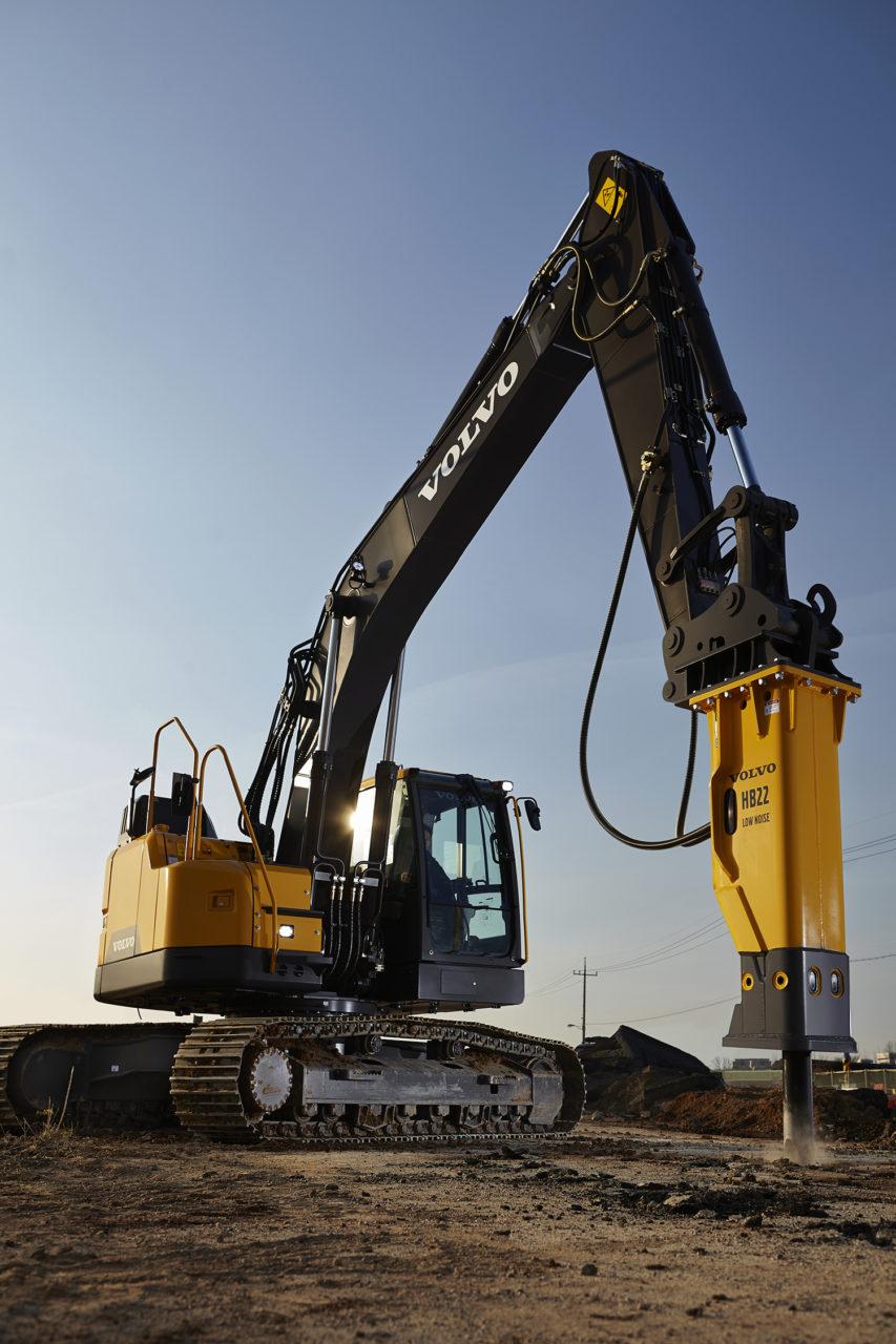 Volvo ECR145E Excavator Test Drive 5